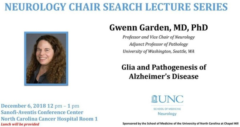 Dr. Gwenn Garden, new chair of neurology recruited to UNC School of Medicine